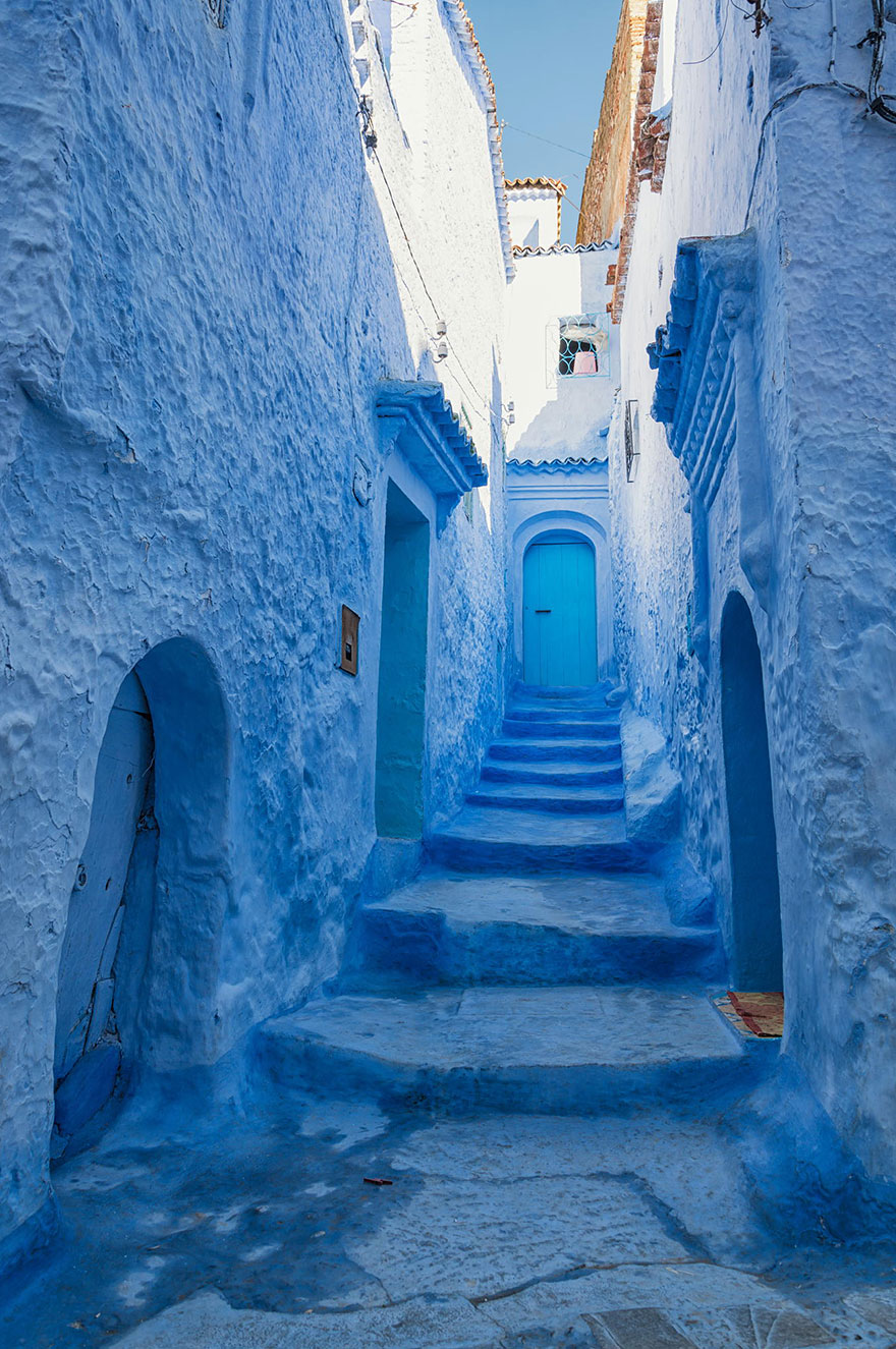 be classified as_The Blue Paint In This Northern City Of Morocco Makes of It A Workshop Of Art
