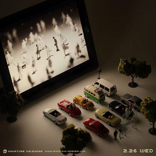 Miniature Calendar.Miniature Calendar Diorama Art Tanaka Tatsuya 22 Viral Novelty