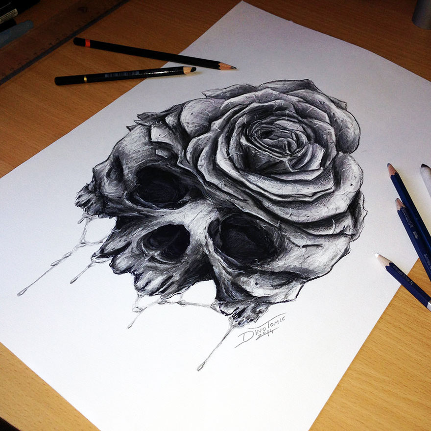 Tattoo Drawings: In His Free Time :This Tattoo Artist Creates Super