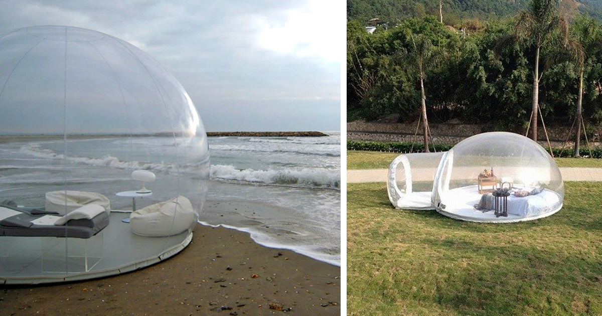 & Transparent Bubble Tent Lets You Sleep Underneath The Stars