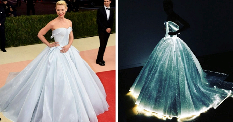 Glow In The Dark Dress Turns Actress Claire Danes Into