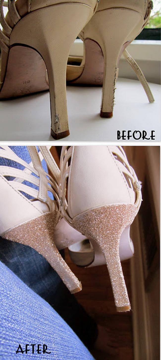 Как из старых туфлей сделать босоножки