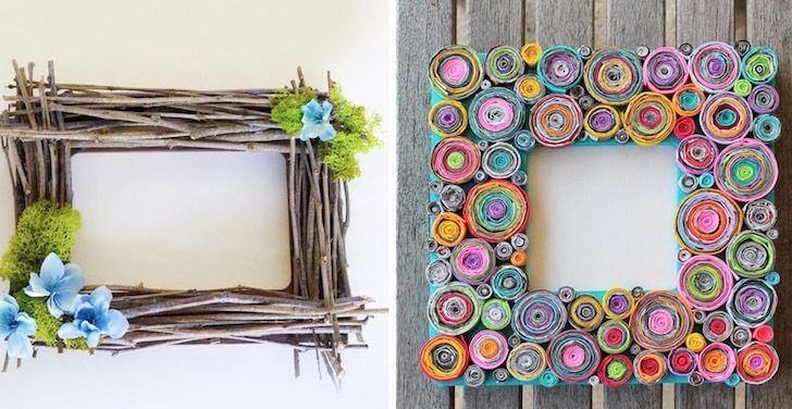 15 creative ways to upcycle your old picture frames into for How to make vintage frames