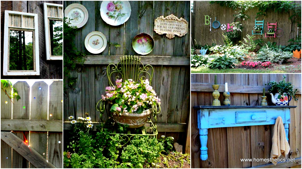 15 creative fences that ll have you loving your privacy for Outdoor garden fence ideas