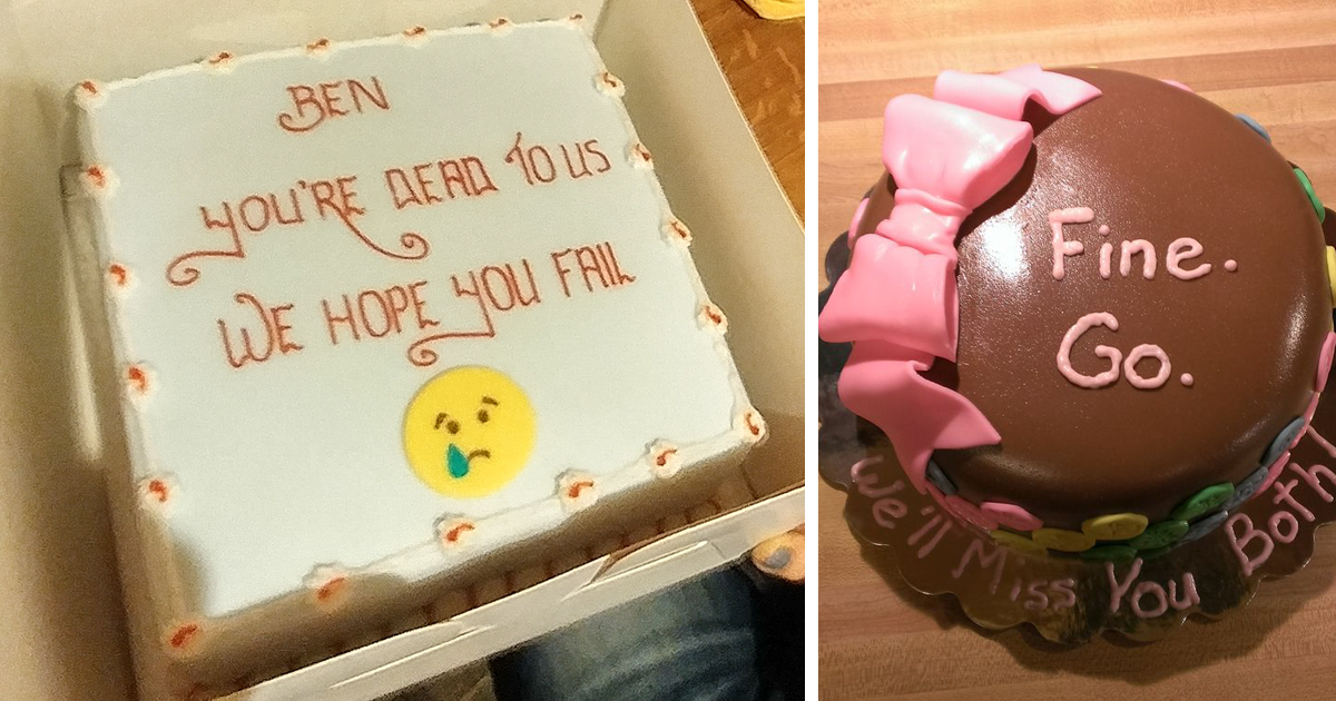 Funny Going Away Cakes