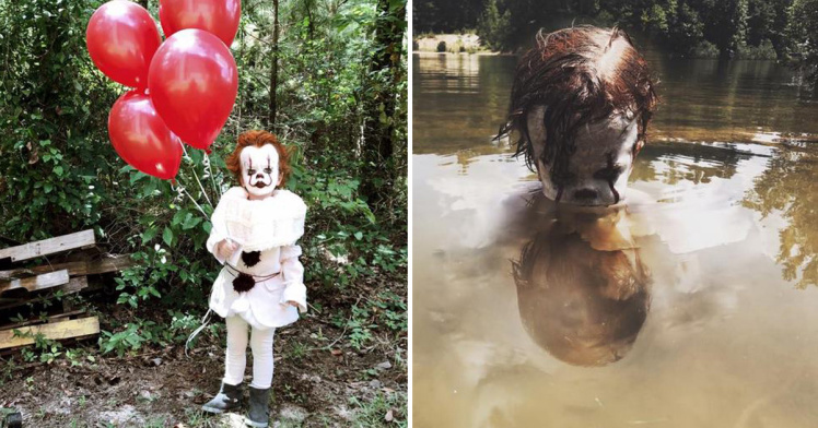 3 Yr Old Boy Poses As Pennywise The Clown In U0026 39 It U0026 39 Themed