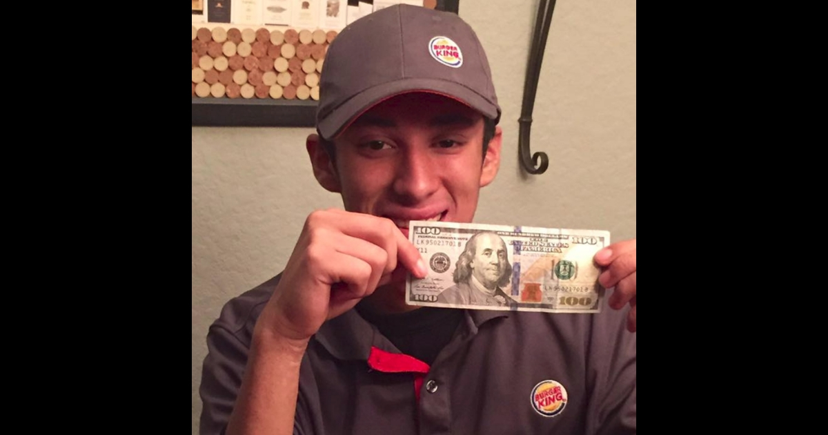 Homeless man asks Burger King worker 'what can i get for $0.50?'. The boy's response? Wise beyond his years
